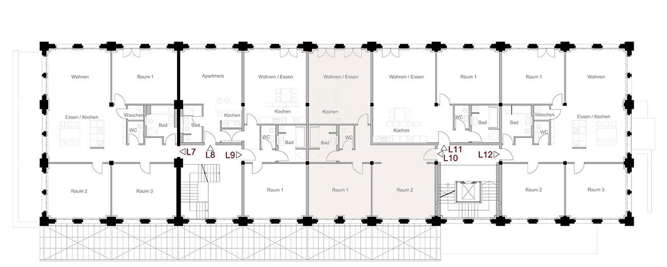 Treppenhaus mit aufzug grundriss  NEUES MAGAZIN OPLADEN: Loft 10